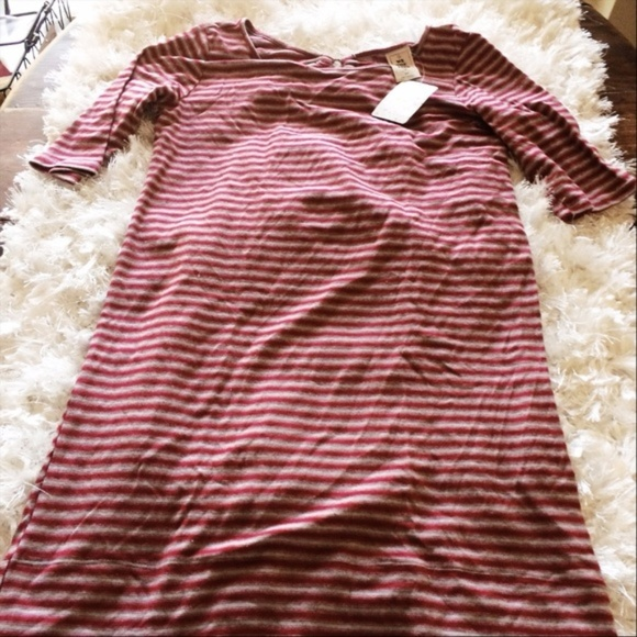 Free People Dresses & Skirts - Free People Red NWT Small Striped Dress Keyhole